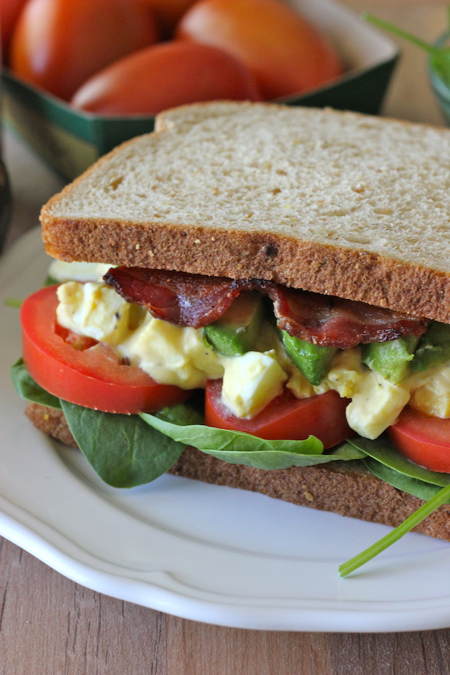 Egg Salad BLTA Sandwich - The addition of bacon is a near-perfect ...