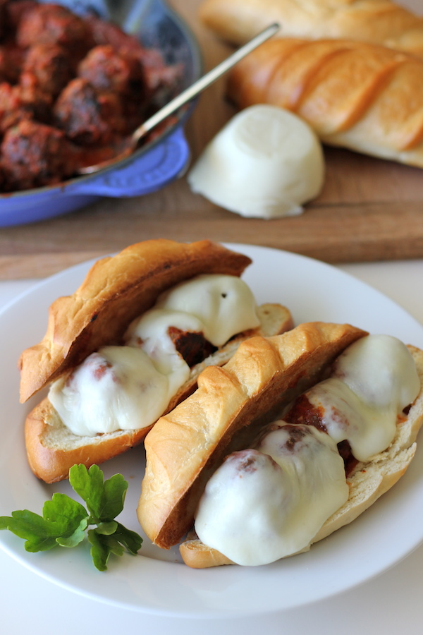 Italian Meatball Sandwiches - The best meatball sub that you can make ...
