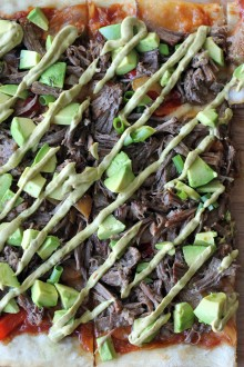 Carnitas Avocado Pizza