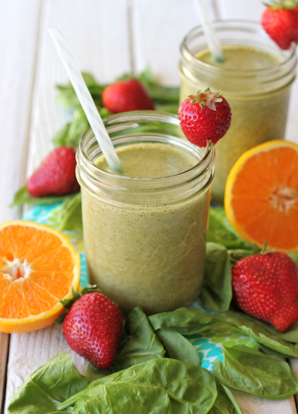 Green Smoothie - A refreshing smoothie loaded with fruits, spinach and ...