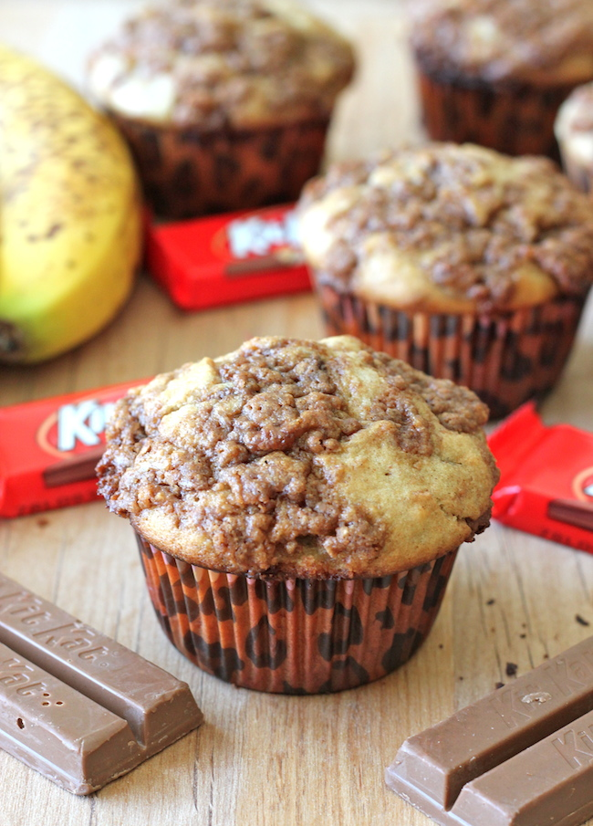 Banana Bread Kit Kat Muffins