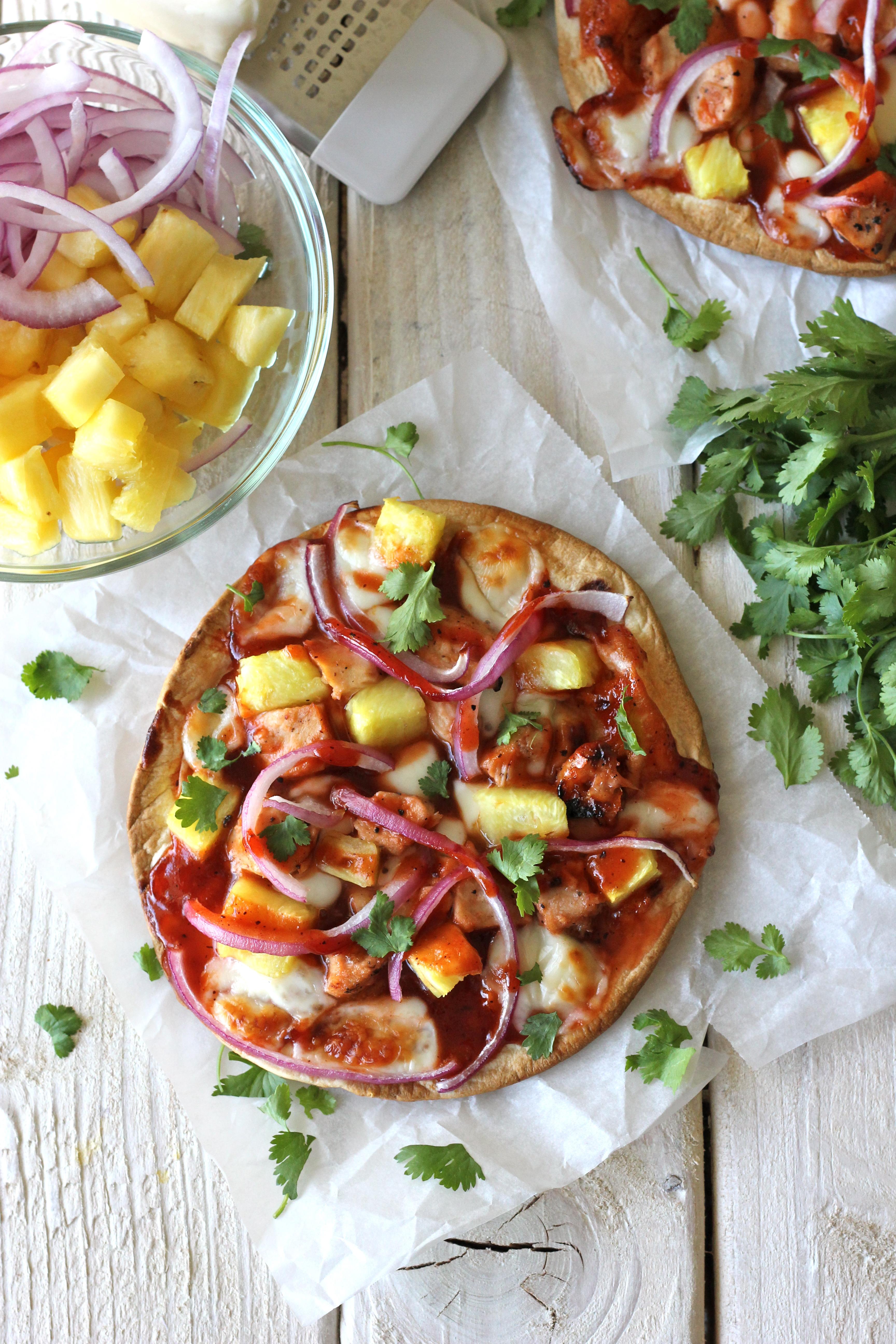 to use up some turkey leftovers hawaiian bbq turkey pizza