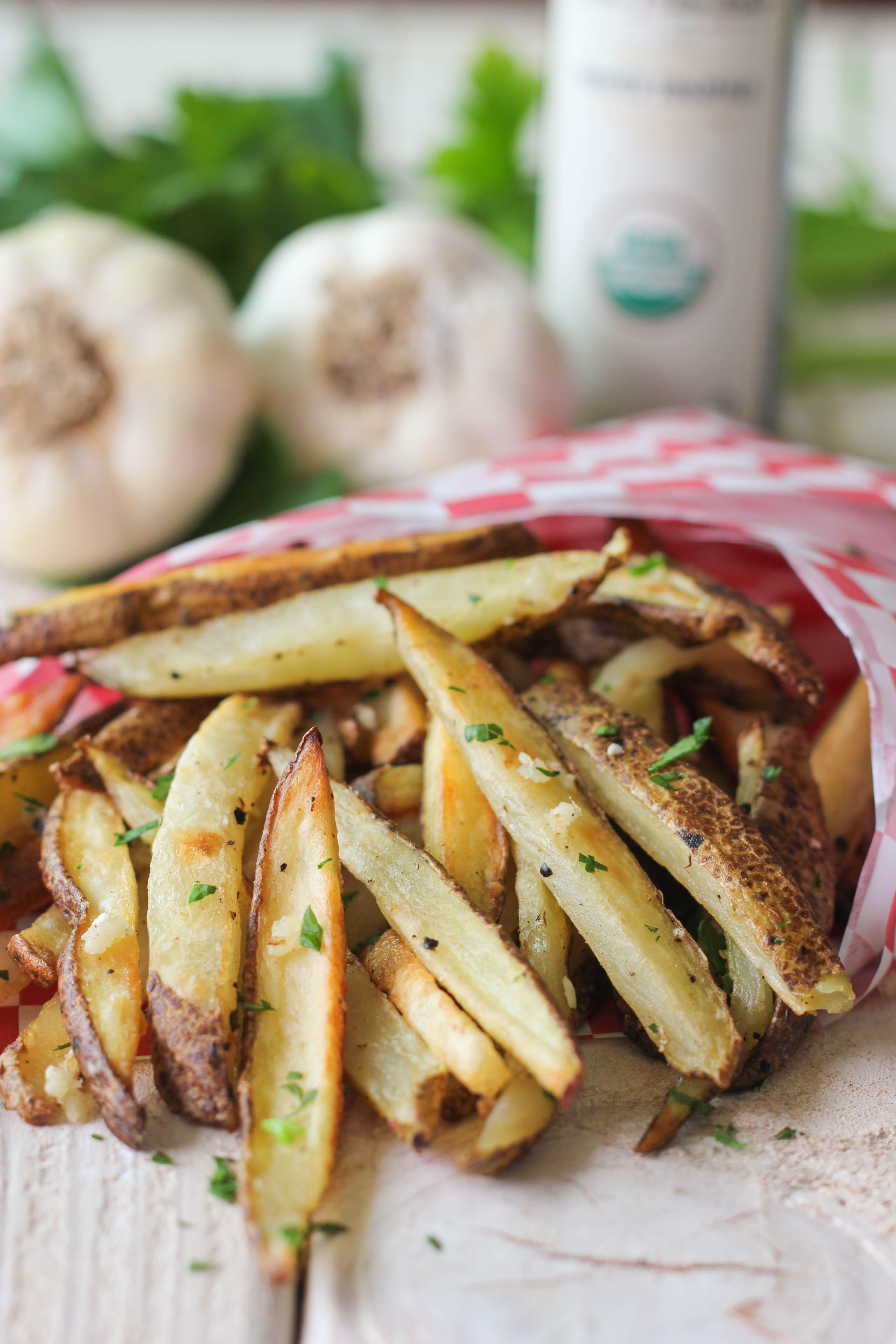 Garlic Truffle Fries - Damn Delicious