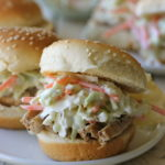 Raspberry Balsamic Glaze Pork Sliders with Coleslaw