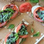 Pesto Caprese Bites with Balsamic Reduction