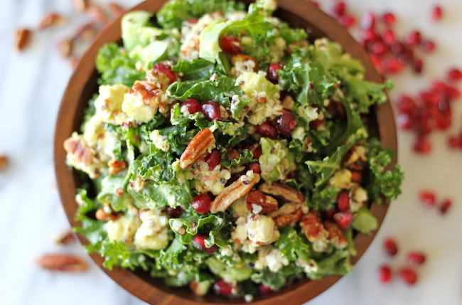 Kale Salad with Meyer Lemon Vinaigrette - Perfect as a light lunch or ...