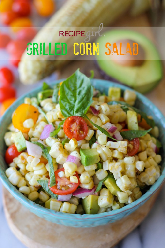 Grilled Corn Salad - A smoky grilled corn salad perfect for a summer picnic!