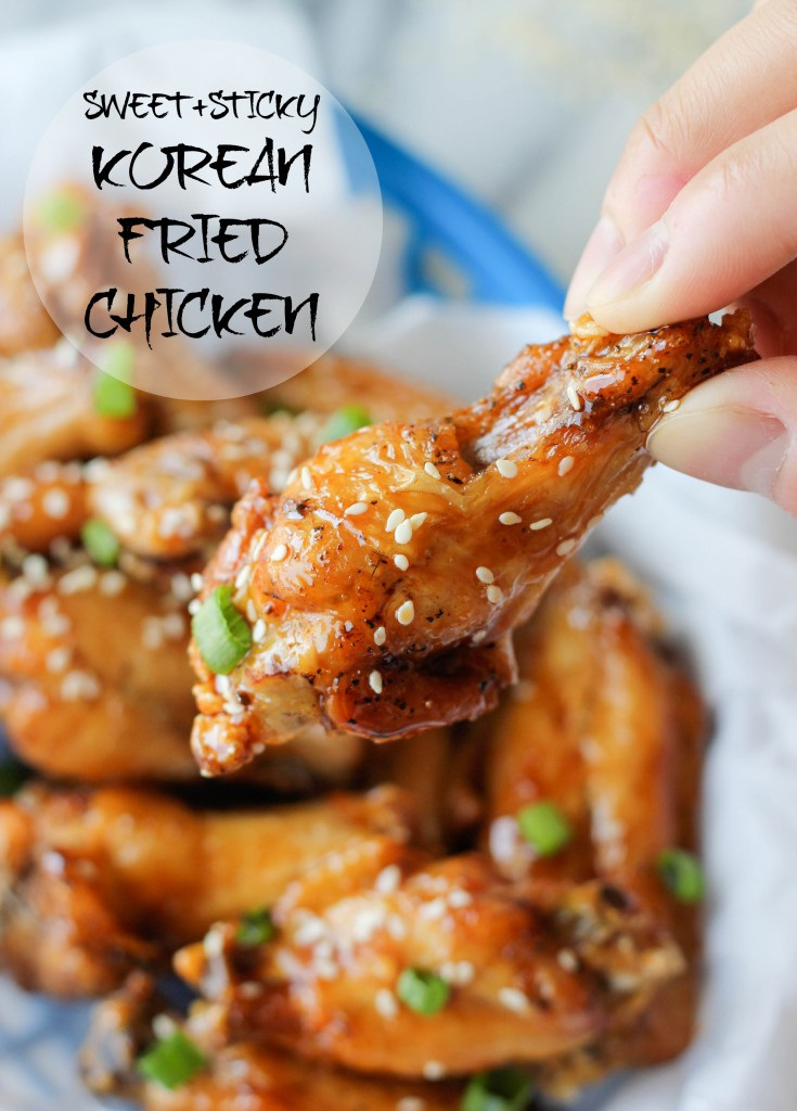 Korean Fried Chicken - Super easy and simple 3 ingredient sweet and sticky chicken wings - the only chicken wing recipe you'll ever need!