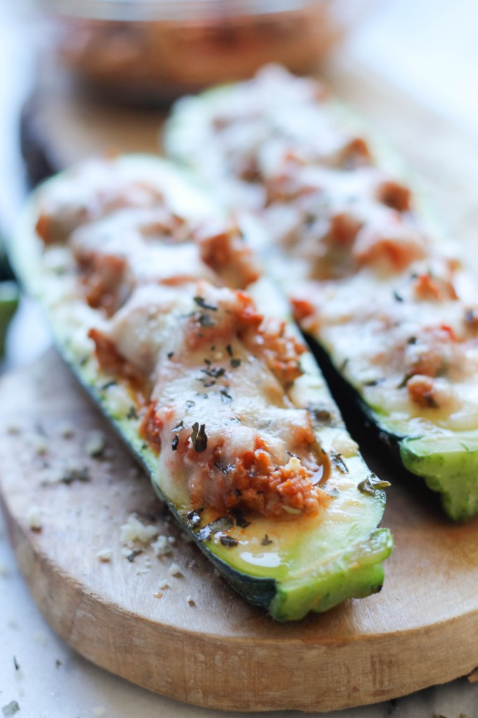 Zucchini Boats With Mozzarella And Olives Recipes — Dishmaps