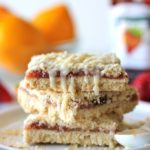 Strawberry Crumb Bars with Meyer Lemon Glaze