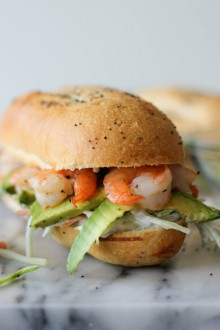 Shrimp Sandwich with Avocado and Broccoli Slaw