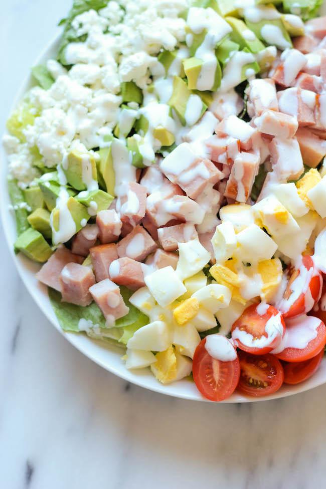 Leftover Thanksgiving Ham Cobb Salad