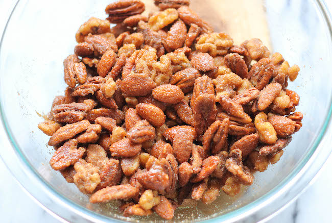 Spicy Cinnamon Sugar Candied Nuts - So addictive, so sweet, and so ...