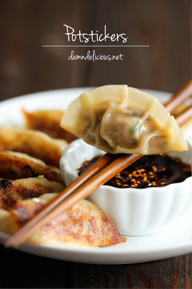 Potstickers - Homemade potstickers are easier to make than you think, and they taste 10000x better than the store-bought ones!