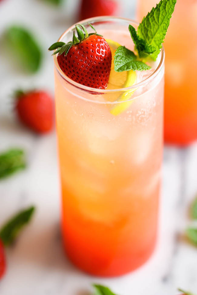 Sparkling Strawberry Lemonade - Wonderfully sweet, tangy, refreshing ...