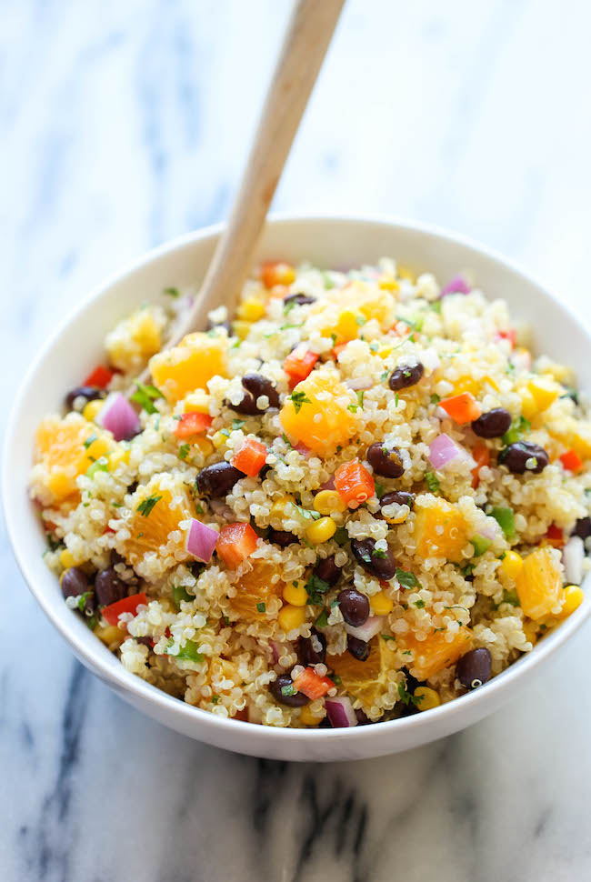 Black Bean Quinoa Salad...PLUS 20 other fabulous quinoa salad recipes that you should try this spring!