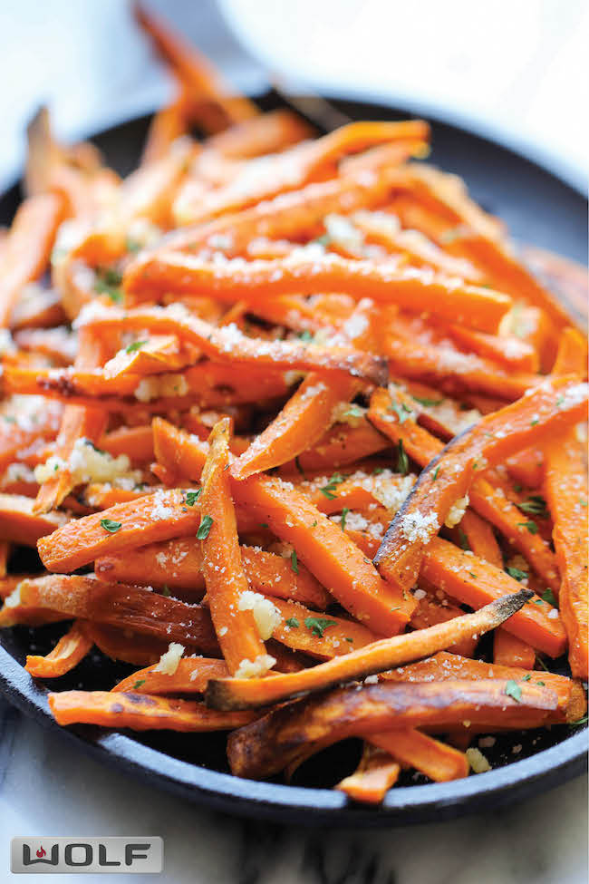 baked sweet potato fries rosemary garlic sweet potato garlic rosemary ...