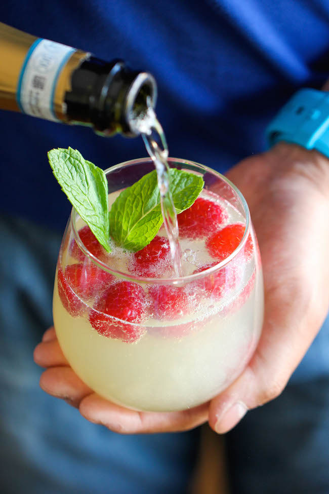 Sparkling Limoncello-Raspberry Cocktail Recipes — Dishmaps