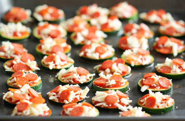 Zucchini Pizza Bites - Healthy, nutritious pizza bites that come ...