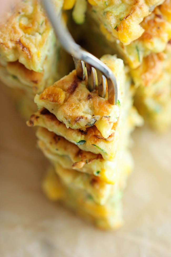 Cukkinis-kukoricás pancake