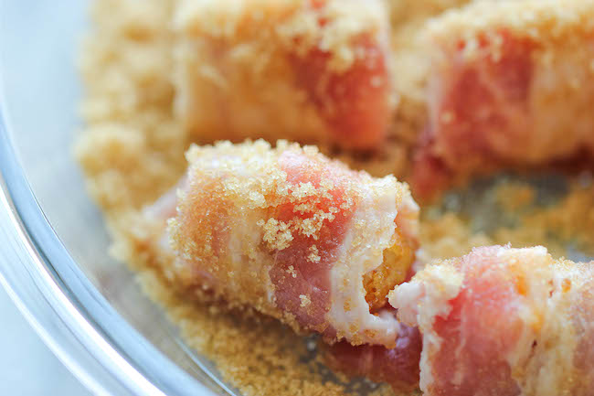 Bacon Wrapped Tater Tot Bombs - The most amazing tater tots ever. It's so good, you'll want to double or triple the recipe!
