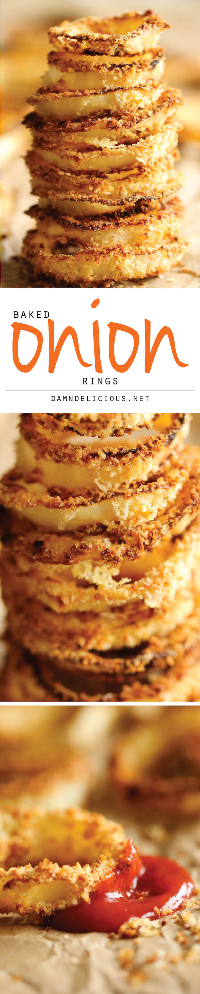 Baked Onion Rings - No need to deal with hot oil - these onion rings ...