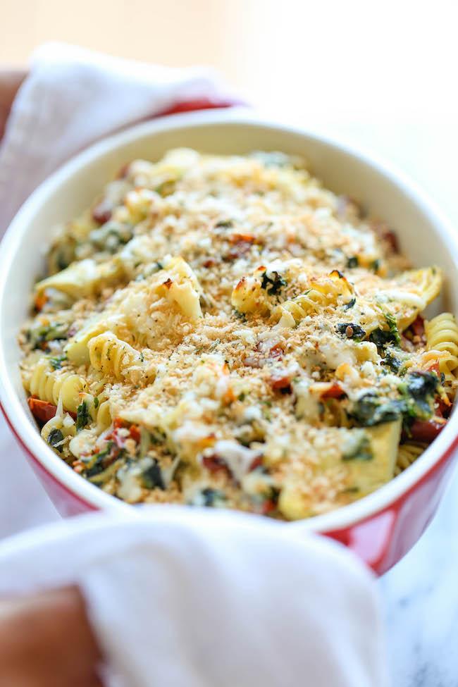 Chicken Florentine Artichoke Bake - An easy weeknight casserole with ...