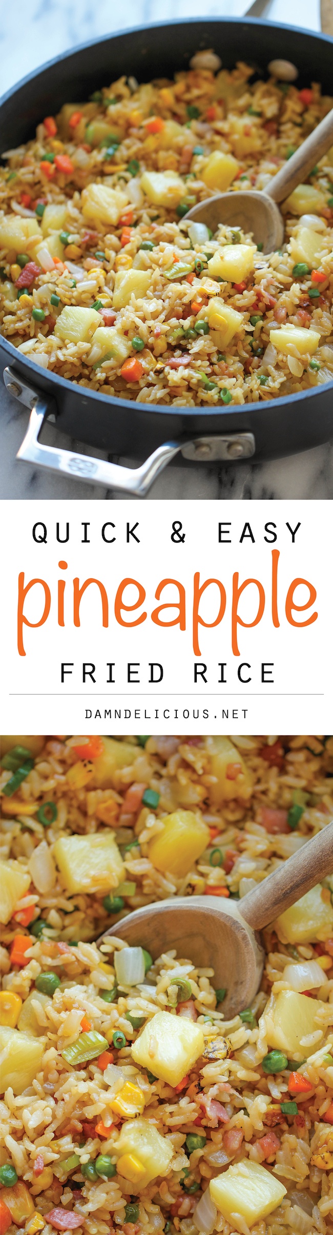 Pineapple Fried Rice - A quick and easy weeknight meal that's so much ...