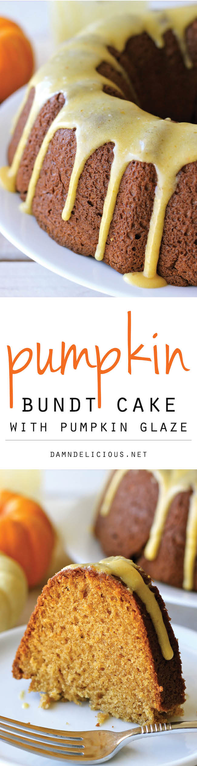 Pumpkin Bundt Cake with Pumpkin Glaze - A perfect fall cake that you'll want to make it all year long!