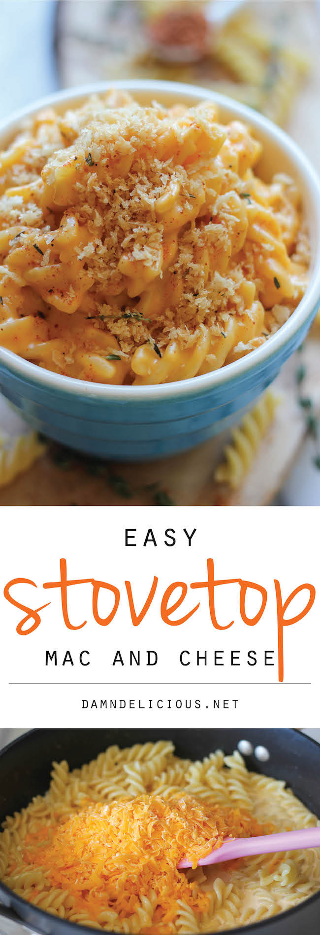 Stovetop Mac and Cheese - A quick and easy, no-fuss mac and cheese made in less than 30 min. Comfort food never tasted so good!