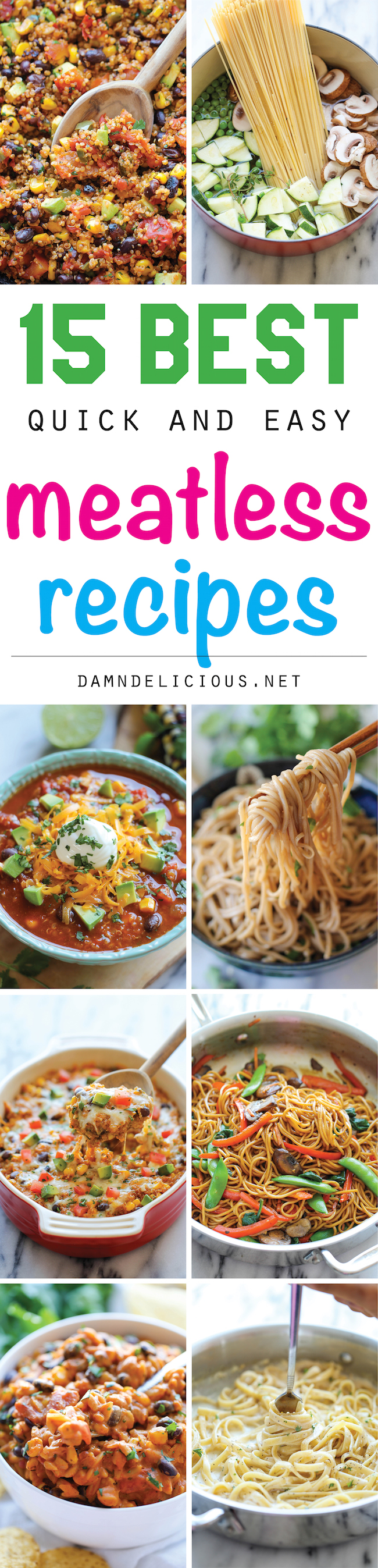 Easy meatless meals recipes