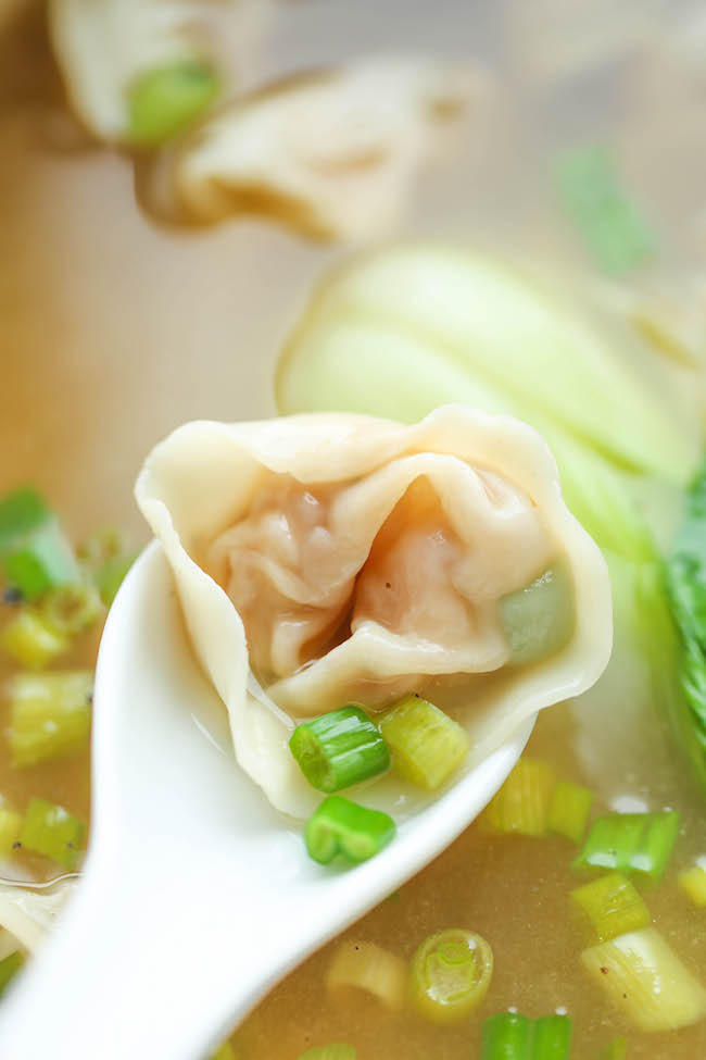 Spicy Miso Soup With Bok Choy Wontons Recipes — Dishmaps