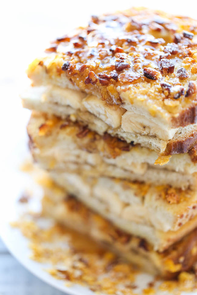 Banana Stuffed French Toast - After this, you'll never want ...