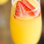 Strawberry Pineapple Mimosas