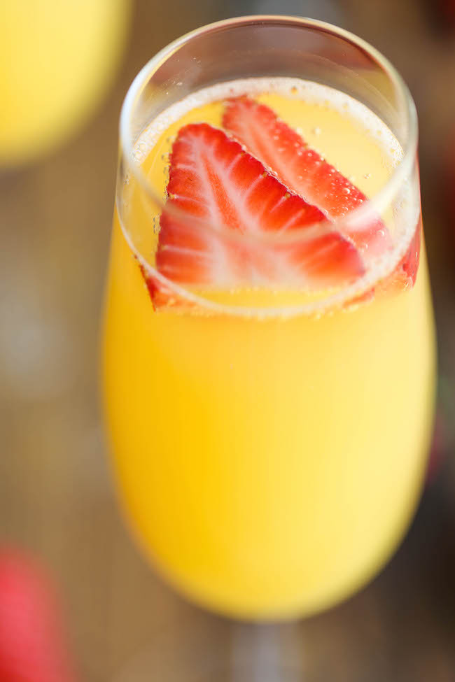 Strawberry Pineapple Mimosas - The easiest, quickest, and best 4 ...