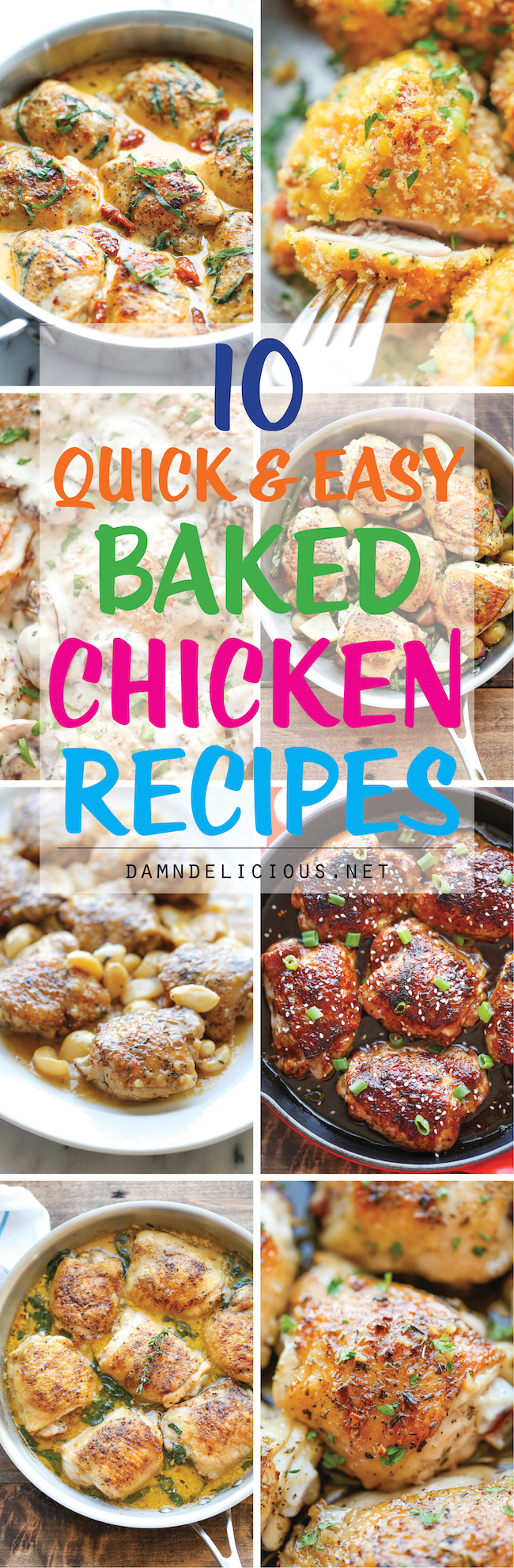 Easy and healthy baked chicken recipes