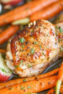 One Pan Garlic Ranch Chicken and Veggies