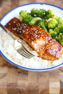 Teriyaki Salmon and Broccoli Bowls