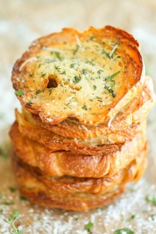 Garlic Bread Croissants