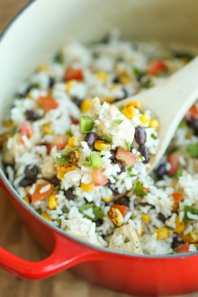 One Pot Beans, Chicken and Rice