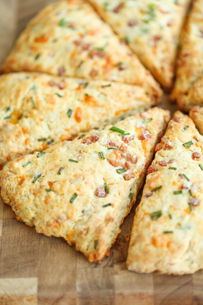 Ham and Cheese Scones - Easy peasy ham and cheddar scones perfect for ...