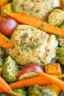 One Pan Roasted Chicken with Fall Vegetables