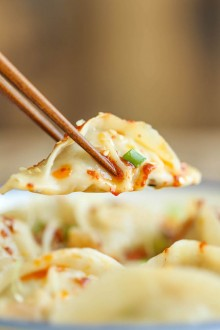 Spicy Chicken Potstickers