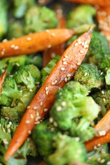 Asian Roasted Carrots and Broccoli