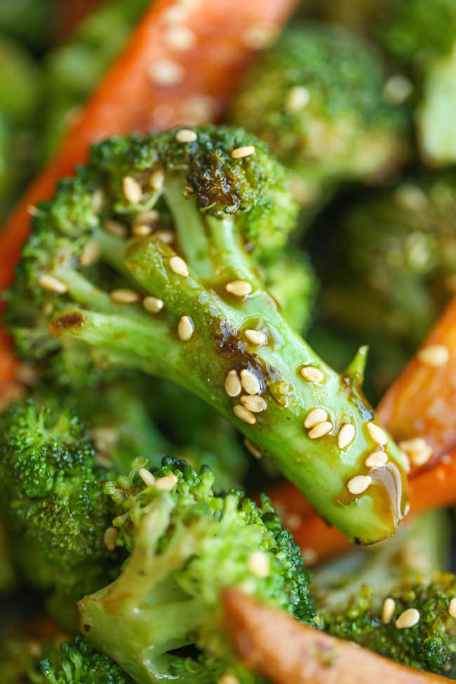 Asian Roasted Carrots and Broccoli - Super simple, quick, and easy ...