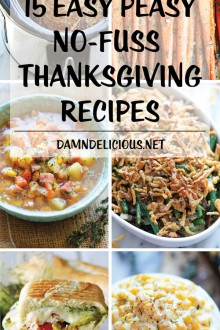 15 Easy Peasy No-Fuss Thanksgiving Recipes