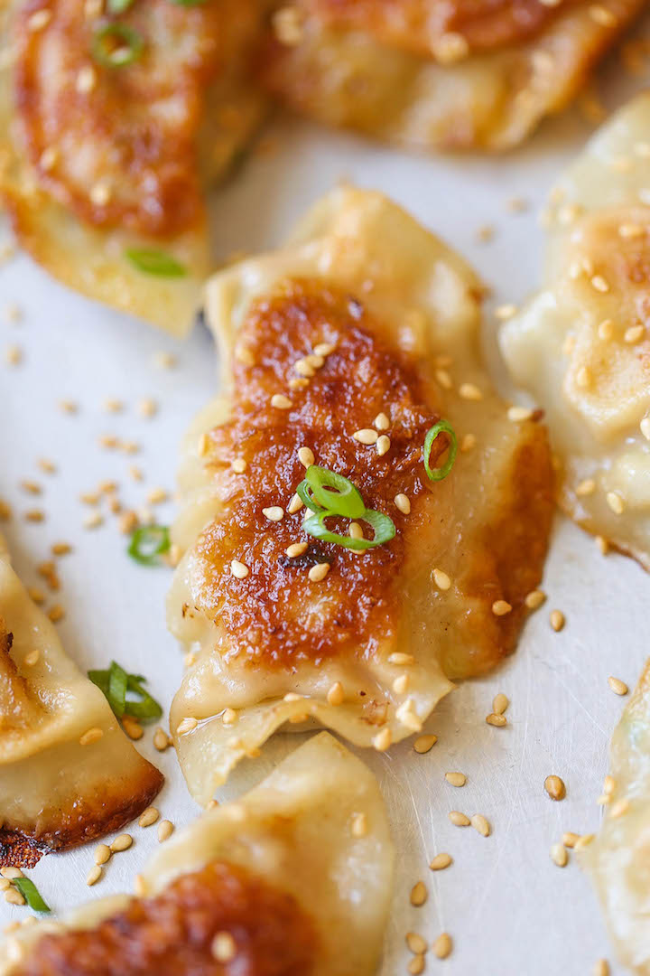 Pan Fried Dumplings - The best and easiest way to cook amazingly crisp potstickers! After this, you'll never want take-out dumplings ever again. Promise!
