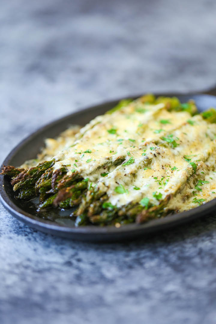 Cheesy Asparagus Gratin - A 5-min appetizer (or side dish)! Simply ...