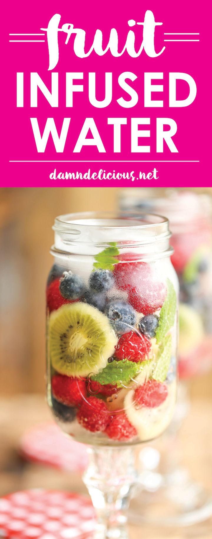 Fruit Infused Water - Skip the soda and stay healthy and hydrated with this refreshing fruit combination! It literally takes 5 minutes to put together.