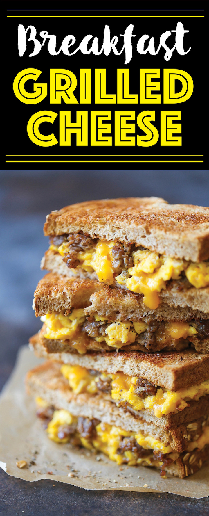 Breakfast Grilled Cheese - The PERFECT excuse to have grilled cheese ...